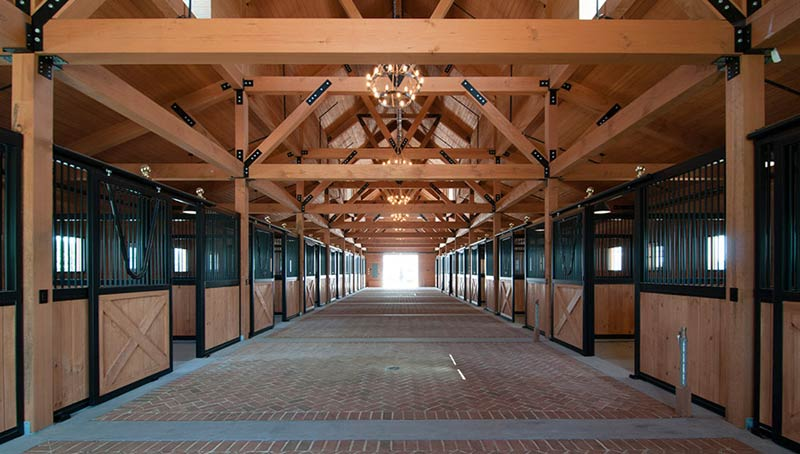Bridgehampton Hamptons Horse Farm Stable Interior Architecture