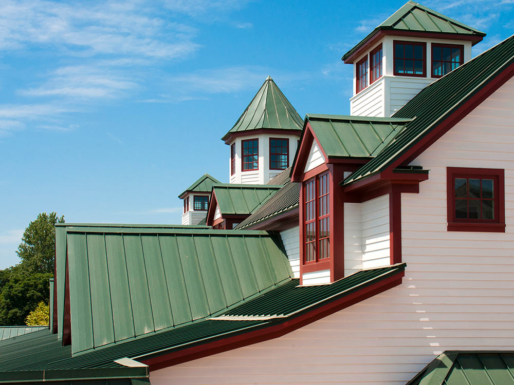 Hunter Green Standing Seam Roof Architecture