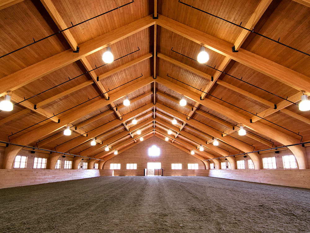 Large Scale Equestrian Indoor Riding Ring in the Hamptons
