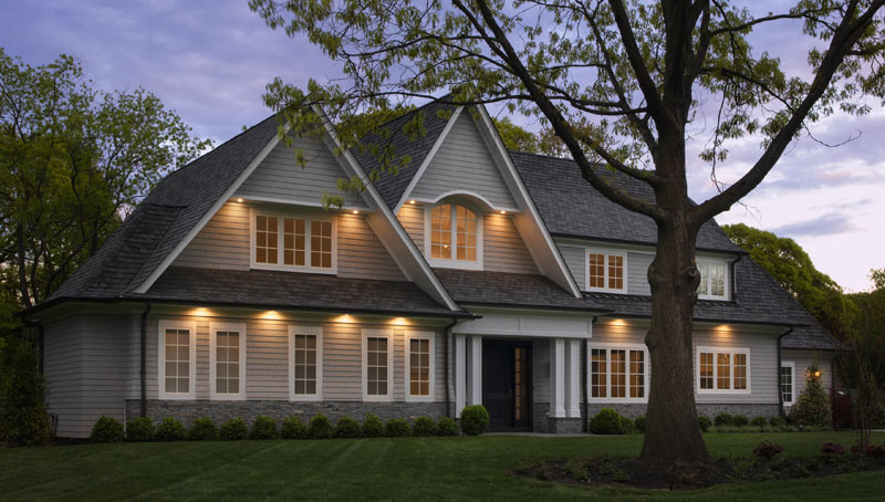 Classic Long Island Coastal Home Design Night Photography