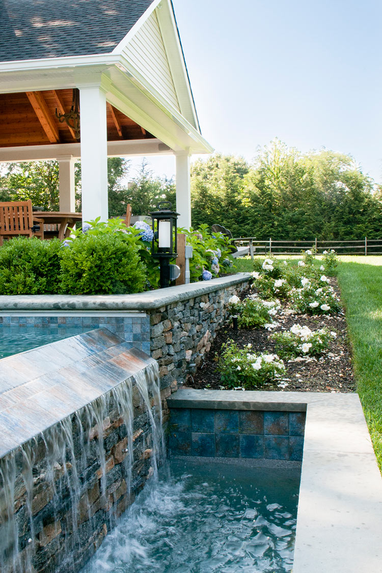 Landscape Architecture for Gambrel Roof Pool House