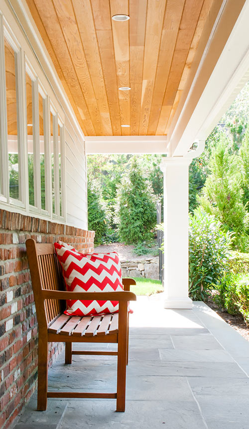 Covered Porch at Huntington NY Home Design