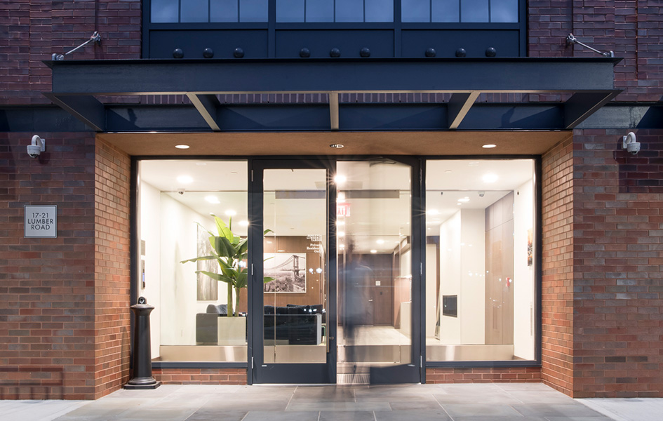 Residential Apartment Building Entry Architecture