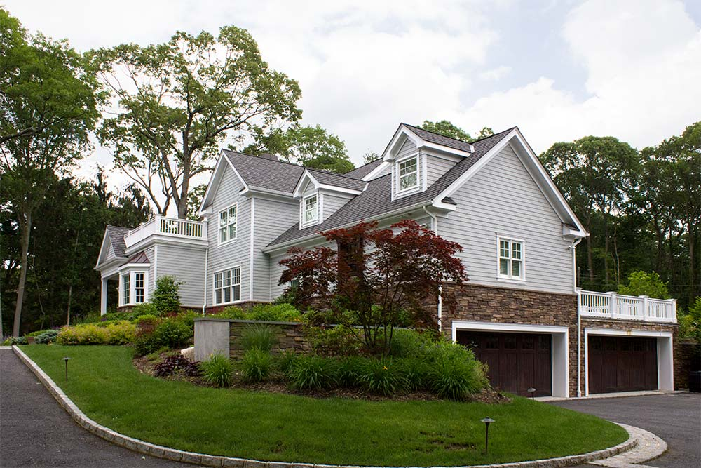 Long Island Home on Hill with Garage Under