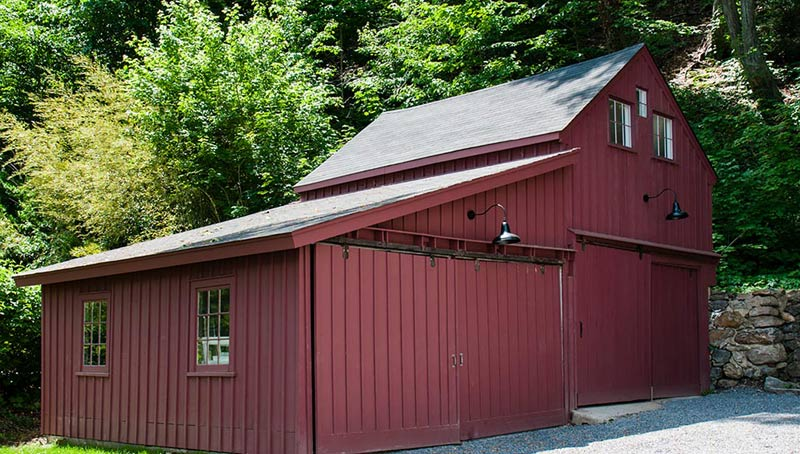 Roslyn NY Red Lumber Barn Restoration Architecture