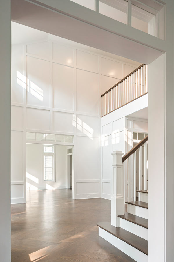 Bright Custom Stair Hall Interiors - Sands Point NY
