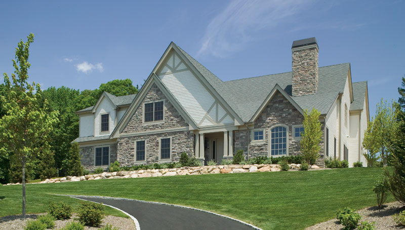 Muttontown Residential Development Custom Cotswold Home Design