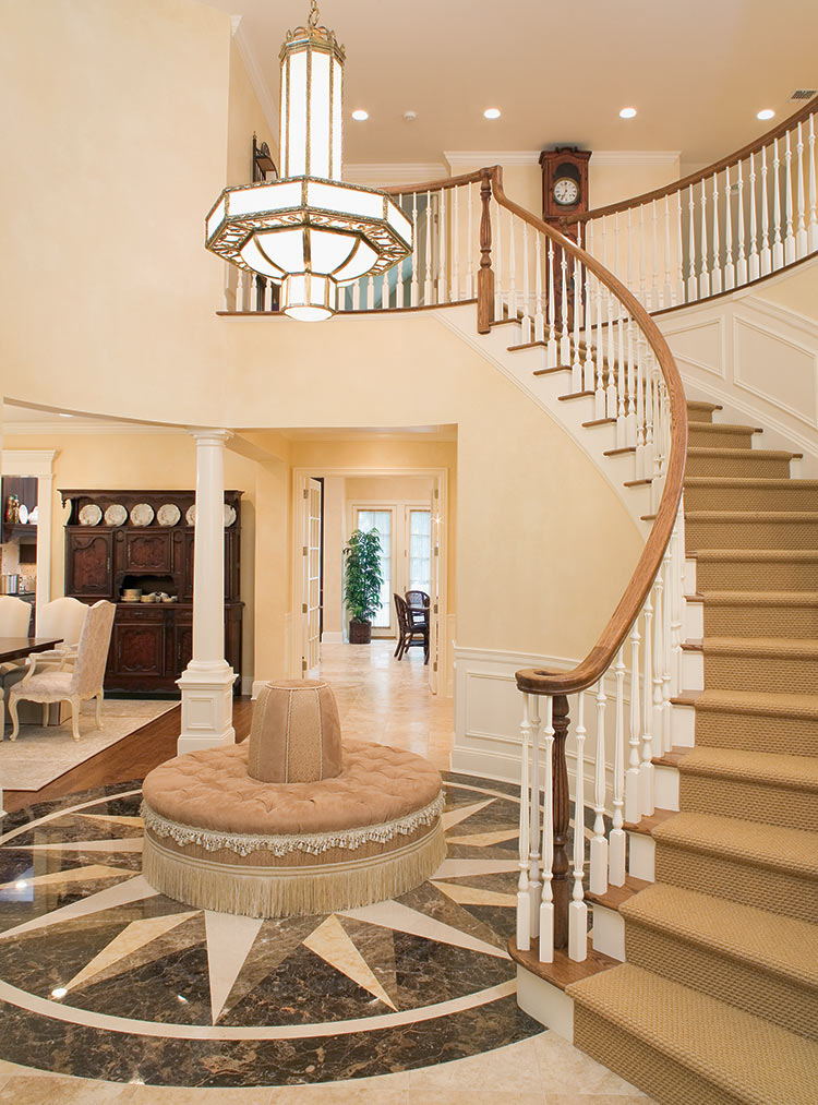 Grand Stairwell and Entry Foyer Interior Design
